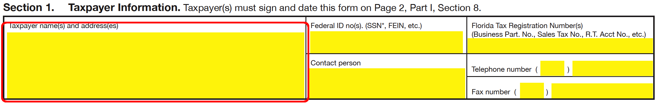 Florida Tax Power of Attorney Form (DR-835) | eForms – Free Fillable