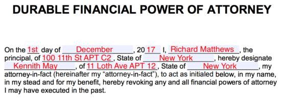 Financial Power Of Attorney Form | Free Durable Power Of Attorney Form Eforms Free Fillable Forms