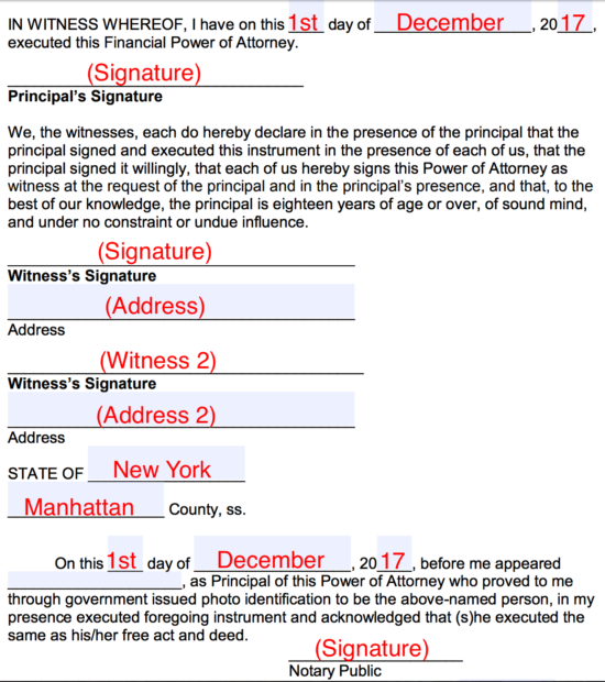 power of attorney form filled out  Free Durable Power of Attorney Form - Word | PDF | eForms ...
