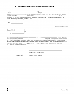 Free Illinois Power of Attorney Revocation Form - Word | PDF ...