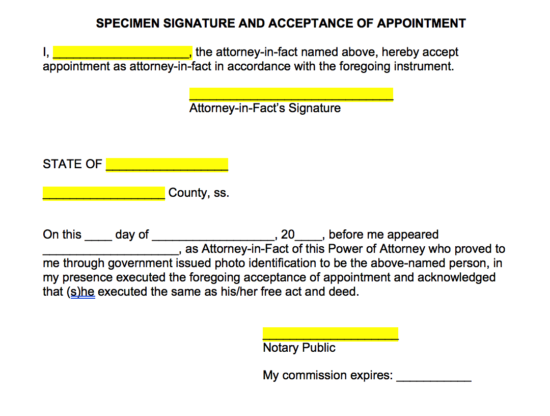power-of-attorney-agent-acceptance-addendum