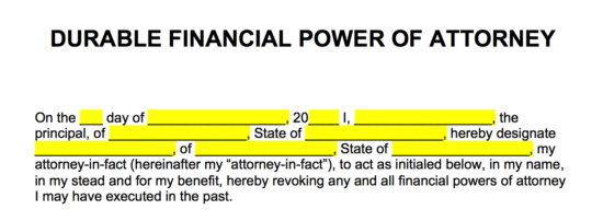 image relating to Free Printable Power of Attorney Form Nj called Absolutely free Energy of Legal professional Varieties - Term PDF eForms Totally free