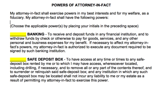 powers of attorney in fact 1