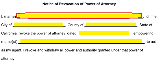 Free California Revocation of Power of Attorney Form - PDF ...