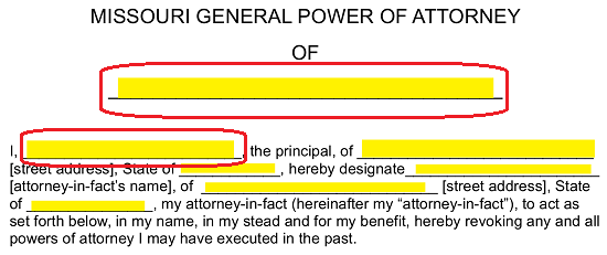 Free Missouri General Financial Power Of Attorney Form Word