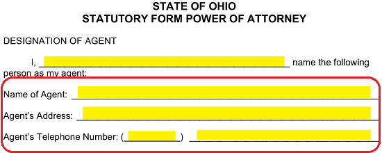 Free Ohio Power Of Attorney Forms Word Pdf Eforms Free