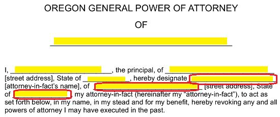 free oregon general financial power of attorney form word pdf