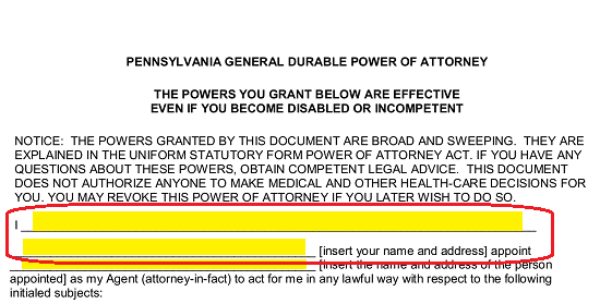 Free Pennsylvania Power Of Attorney Forms Word Pdf Eforms