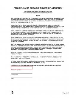 power of attorney form pennsylvania  Free Pennsylvania Power of Attorney Forms - PDF | Word ...