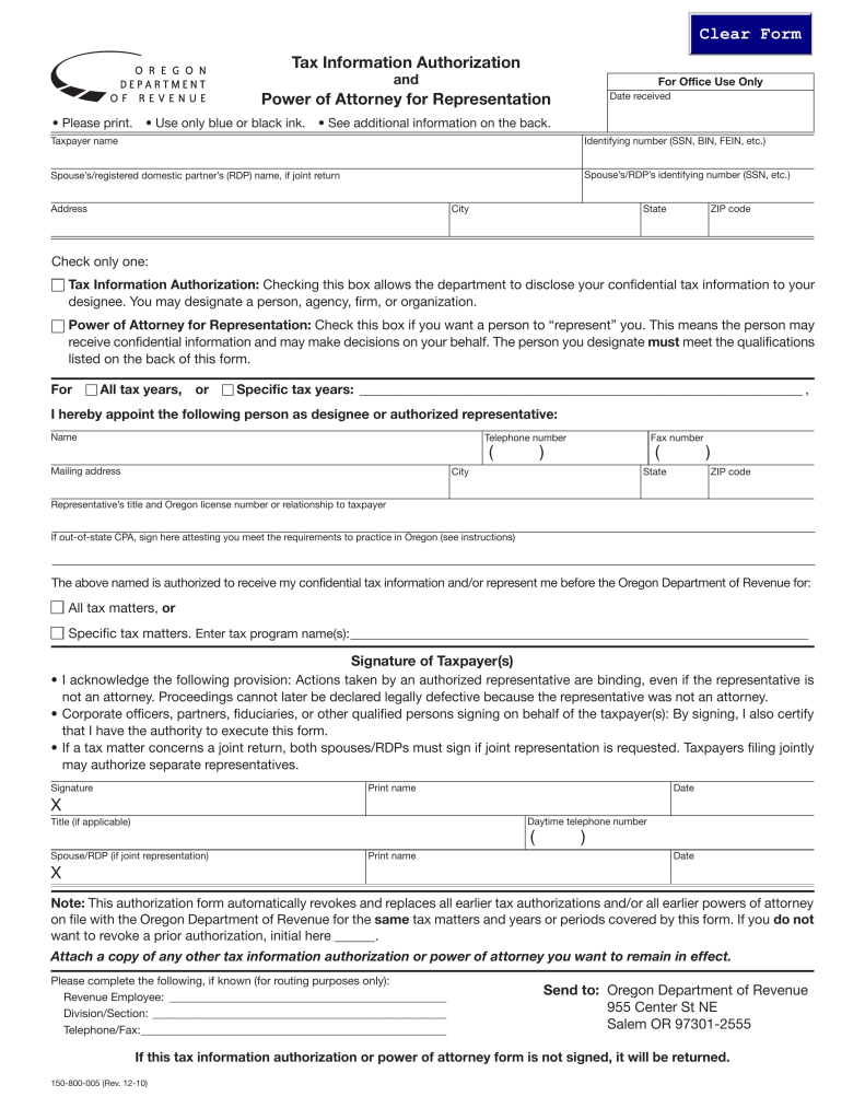 address to send tax forms