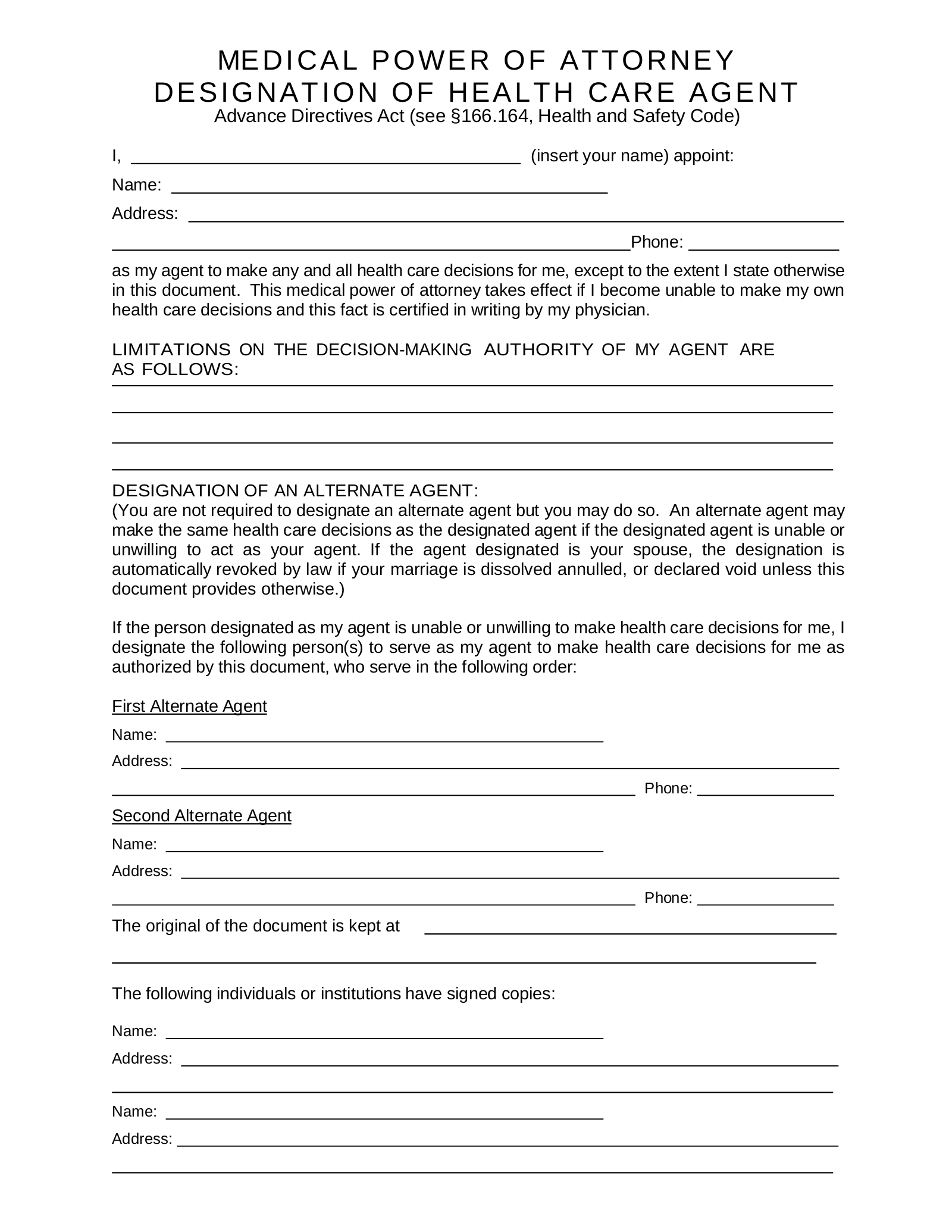 It is a picture of Free Printable Durable Power of Attorney Form Texas pertaining to pdf