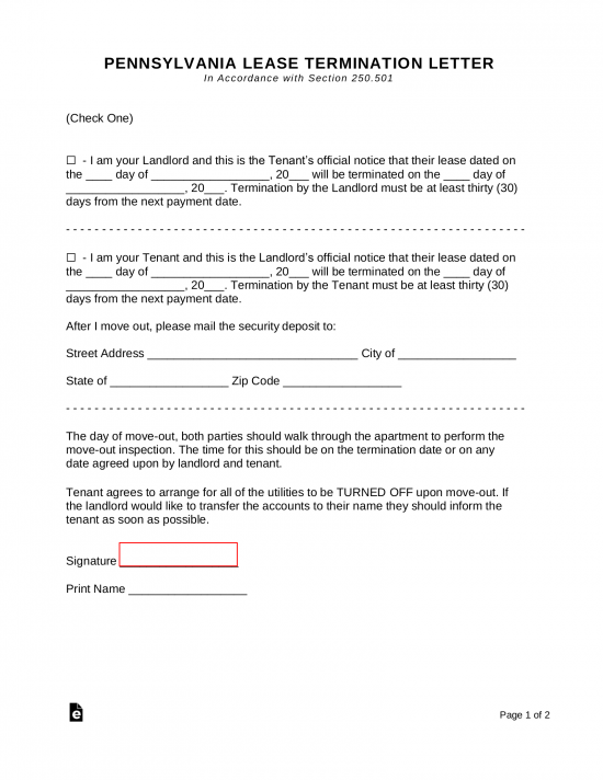 Letter Of Eviction Sample from eforms.com