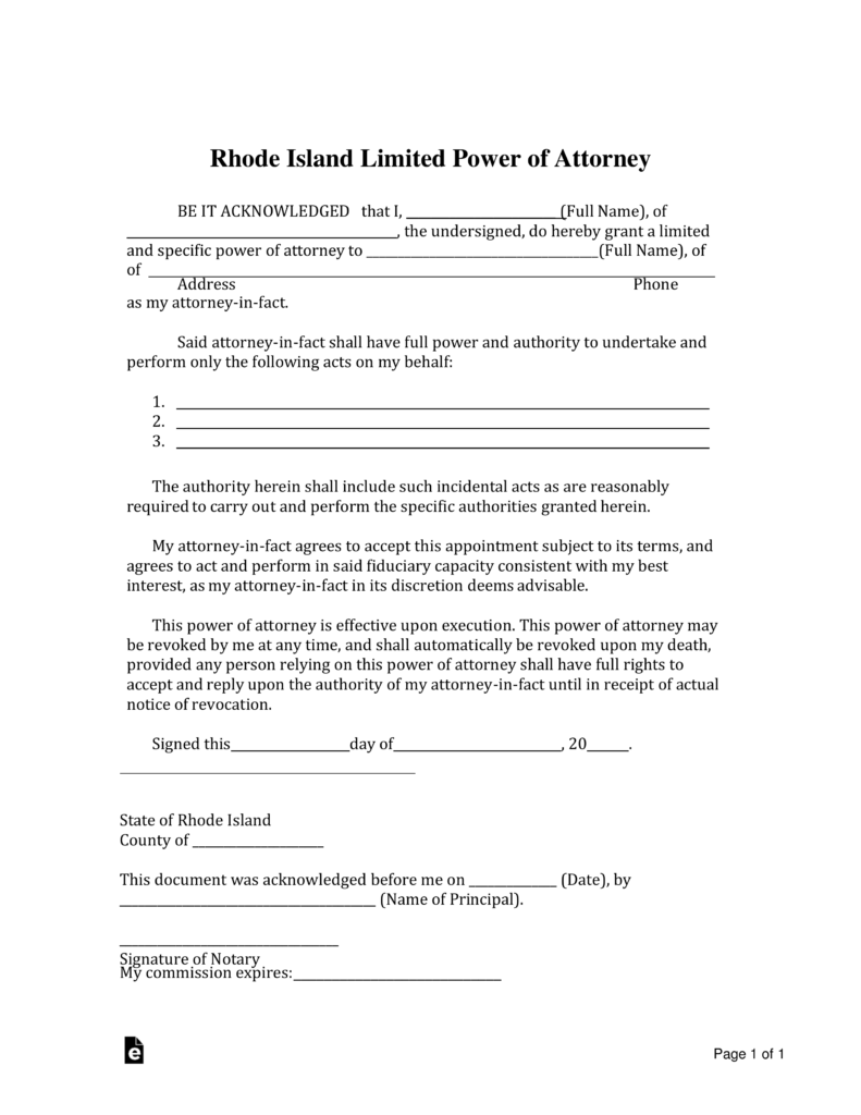 Free rhode island limited power of attorney form pdf word free rhode island limited power of attorney form pdf word eforms free fillable forms falaconquin