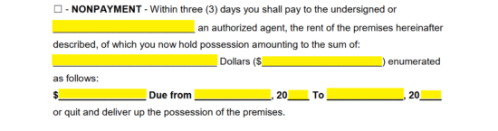Free florida eviction notice forms process and laws word pdf then the dollar amount owed must be documented with the rental period requiring payment thecheapjerseys Choice Image