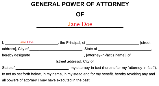 Free General (Financial) Power of Attorney Form - Word   PDF