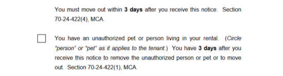 free montana eviction notice forms process and laws pdf eforms