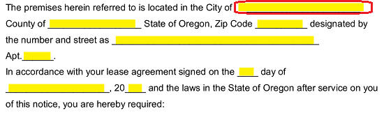 Free Oregon Eviction Notice Forms Process And Laws Pdf