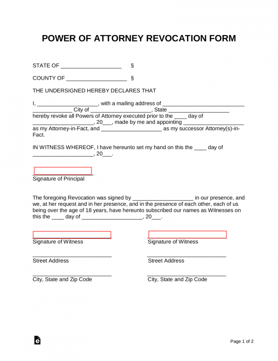 Free Power of Attorney Forms - Word | PDF | eForms – Free Fillable Forms