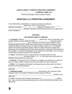 montana-multi-member-llc-operating-agreement-template