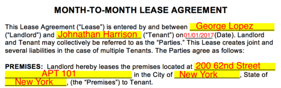 Month To Month Lease Agreement Templates Eforms Free
