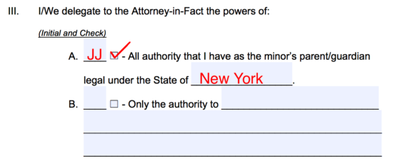 Free Minor Child Power Of Attorney Forms Pdf Word Eforms