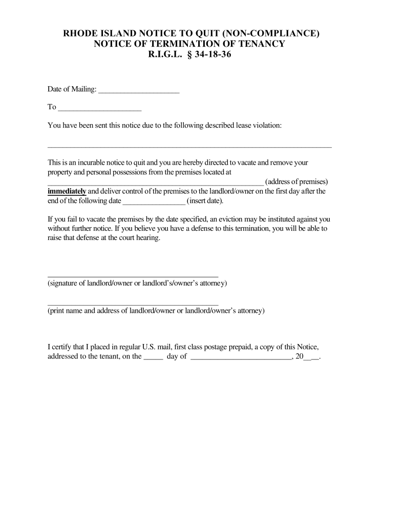 Rhode island 24 hour notice to quit form illegal activity eforms rhode island 24 hour notice to quit form illegal activity eforms free fillable forms thecheapjerseys Image collections