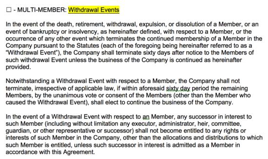 Llc Member Withdrawal Letter Sample from eforms.com