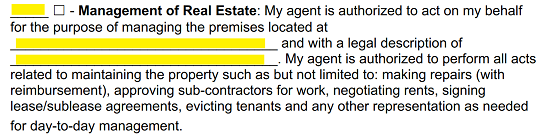 Free California Real Estate Power of Attorney Form - PDF