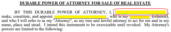 Attorney In Fact Real Estate Definition