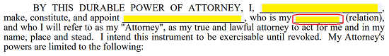 Free florida real estate power of attorney form pdf for Definition of space in a relationship