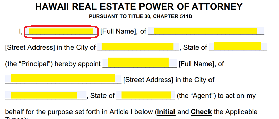 Free Hawaii Real Estate Power of Attorney Form - PDF | Word