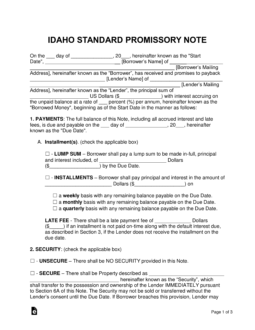 idaho-standard-promissory-note-template