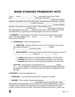 maine-standard-promissory-note-template