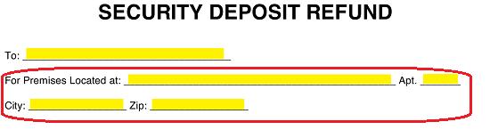 Free Security Deposit Return Letter - PDF | Word | eForms