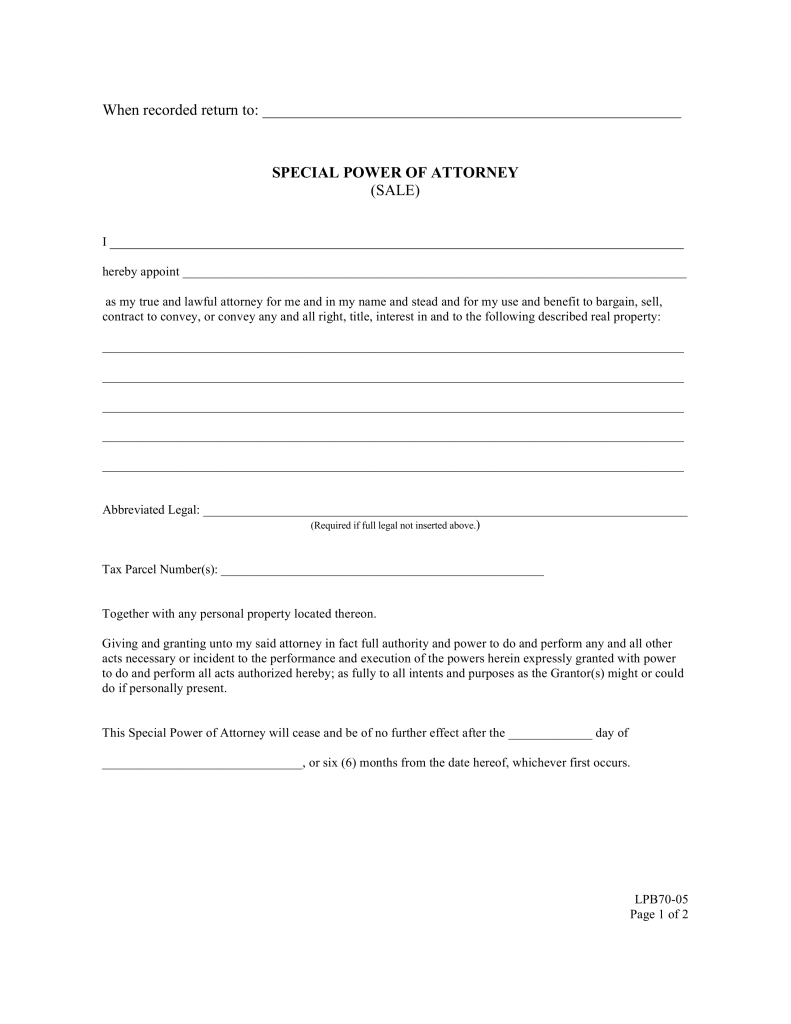 Free Texas Real Estate Power Of Attorney Form Pdf Word Oukasfo