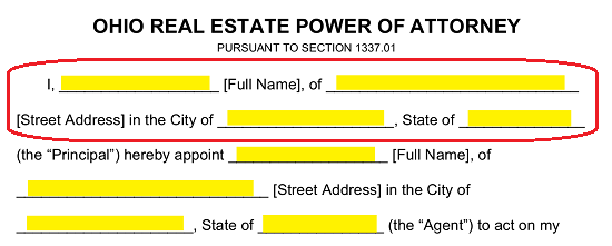 Free Ohio Real Estate Power Of Attorney Form Pdf Word Eforms