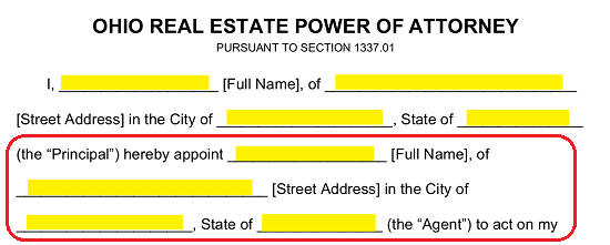 Free Ohio Real Estate Power of Attorney Form - Word | PDF | eForms