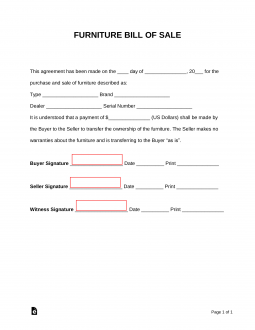 furniture-bill-of-sale-form