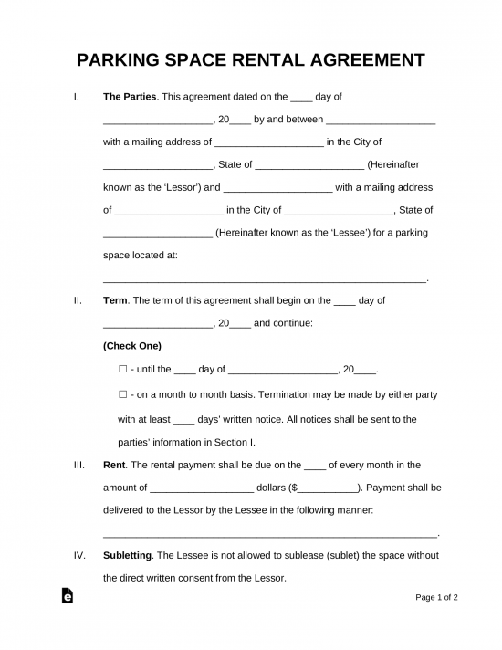 Free Rental Lease Agreement Templates Residential Commercial – Sample Blank Lease Agreement