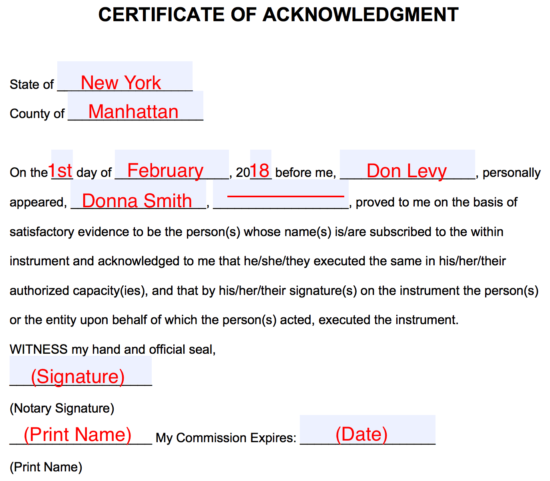 Step 4 Notary Acknowledgement