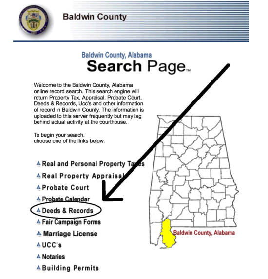 Baldwin County Search Page