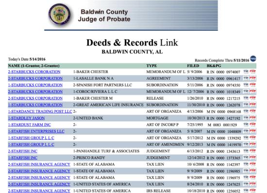 Baldwin County, Alabama Sample Search Results