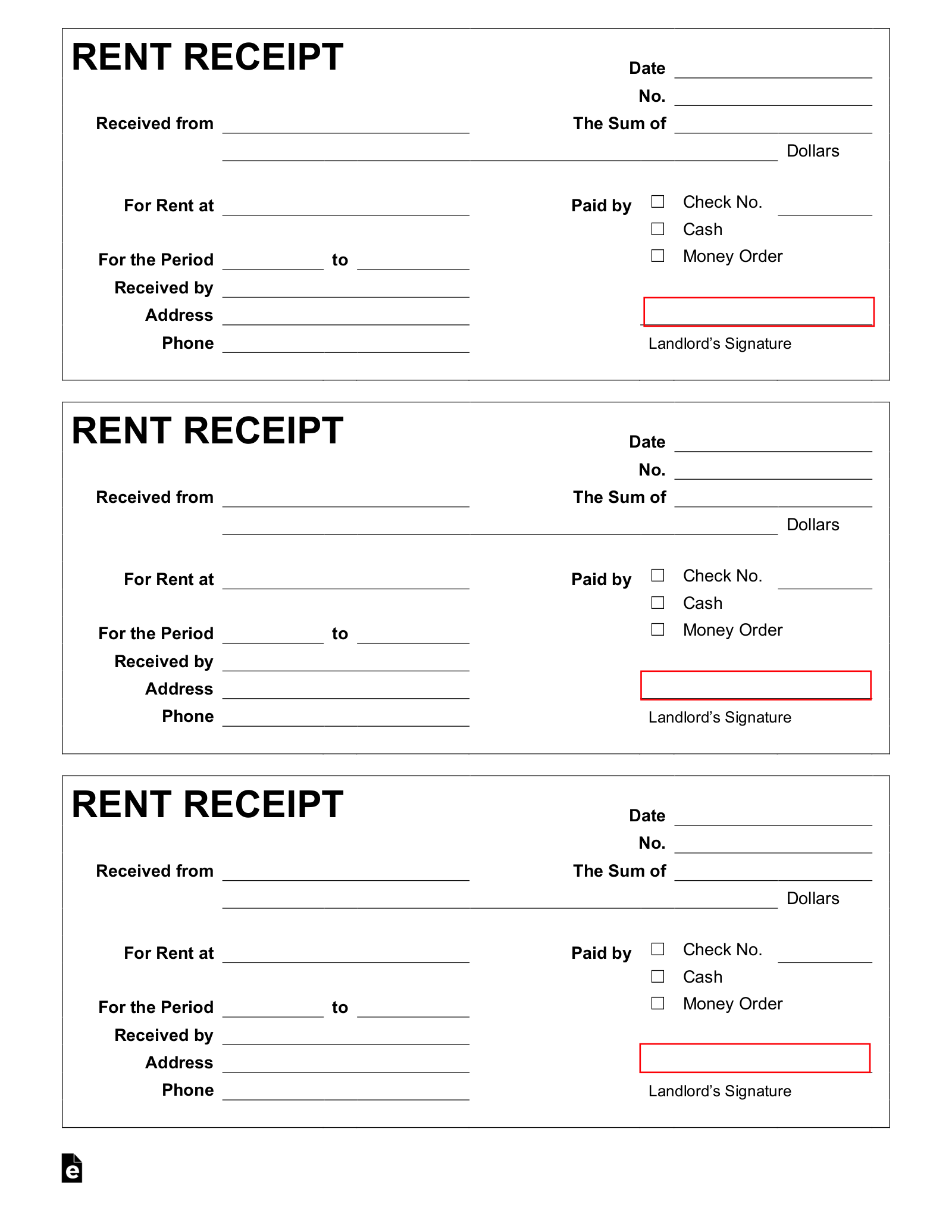 Template For Rent Receipt from eforms.com