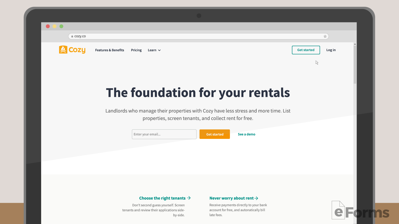Free Rent Receipt Template - PDF | Word | eForms – Free Fillable Forms