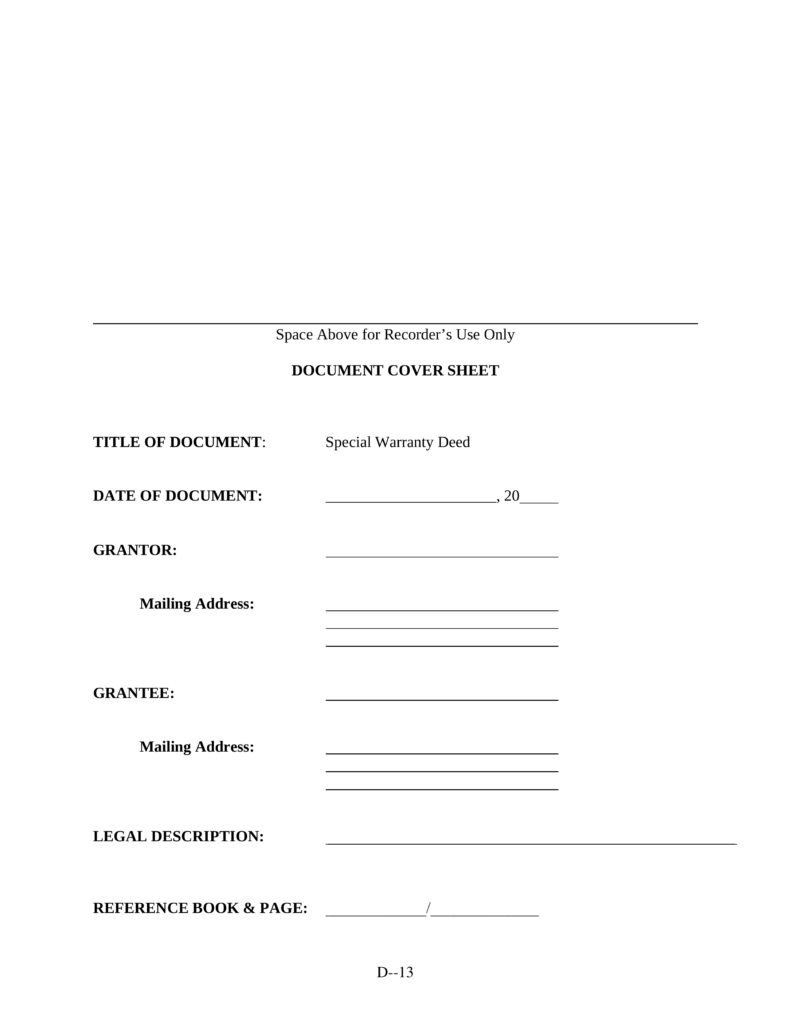 Free Missouri Special Warranty Deed Form - PDF | eForms – Free ...