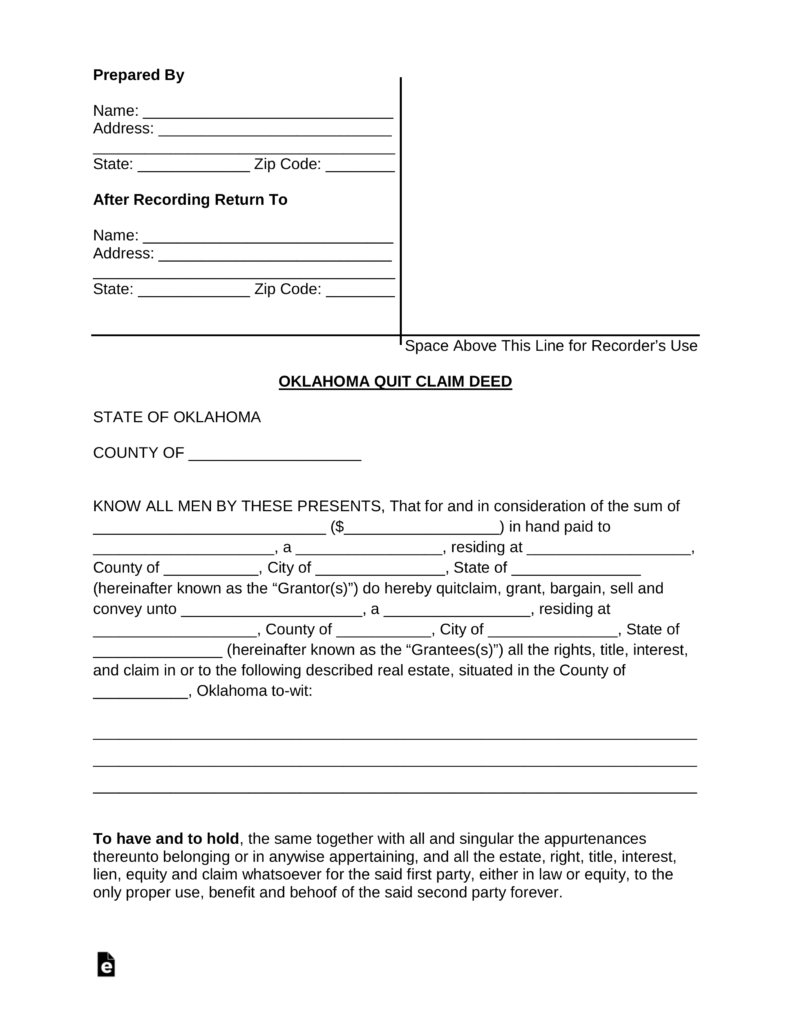 Free oklahoma quit claim deed form word pdf eforms free free oklahoma quit claim deed form word pdf eforms free fillable forms solutioingenieria Images
