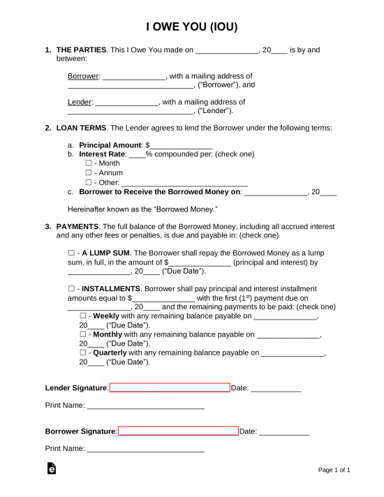Free Promissory Note Templates Word Pdf Eforms