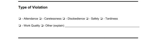 Free Employee Disciplinary Action (Discipline) Form - PDF | Word ...