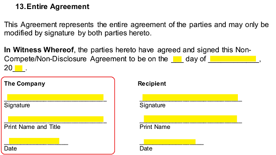 Illinois Non Compete Agreement Template Eforms Free Fillable Forms