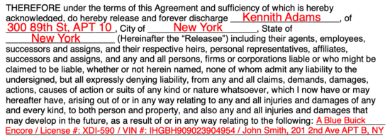 Notice Of Transfer And Release Of Liability >> Free Release Of Liability Hold Harmless Agreement Template Word